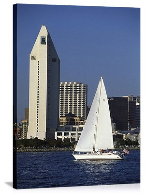 San Diego, California Sailboat Cruise Panorama Picture