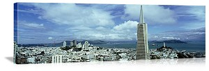 San Francisco, California Trans America Skyline Panorama Picture