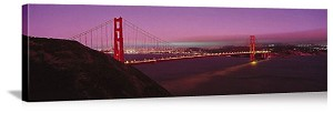 San Francisco, California Golden Gate Reflections Panorama Picture