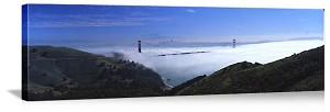 San Francisco, California Morning Fog on the Bay Panorama Picture