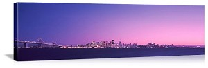 San Francisco, California Bay City Skyline Panorama Picture