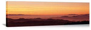 San Francisco, California Sunrise on the Bay Panorama Picture