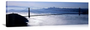 San Francisco, California Fog on the Bay Panorama Picture