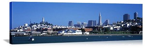 San Francisco, California Downtown Waterfront Skyline Panorama Picture