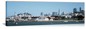 San Francisco, California Waterfront City Skyline Panorama Picture
