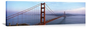 San Francisco, California Traffic on the Golden Gate Bridge Panorama Picture