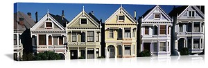 San Francisco, California Victorian Homes Panorama Picture