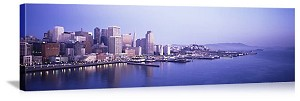 San Francisco, California Waterfront Skyline Panorama Picture