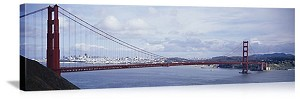 San Francisco, California The Golden Gate Bridge Panorama Picture