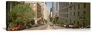 San Francisco, California Streetscape Panorama Picture