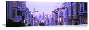 San Francisco, California Marina District Street Panorama Picture