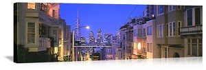 San Francisco, California City Streetscape Panorama Picture