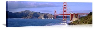 San Francisco, California Sailing Under the Golden Gate Bridge Panorama Picture