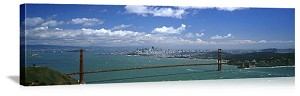 San Francisco, California Sunshine on the Bay Panorama Picture
