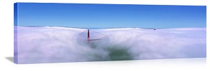 San Francisco, California Fogged In Panorama Picture