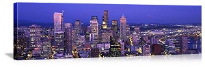 Seattle, Washington Spectacular Downtown Skyline Panorama Picture