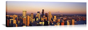 Seattle, Washington Scenic Aerial Skyline Panorama Picture