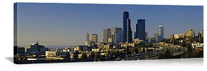 Seattle, Washington Downtown Buildings Panorama Picture