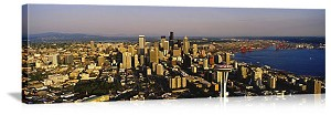 Seattle, Washington Aerial Skyline View Panorama Picture