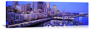 Seattle, Washington Waterfront Skyline Panorama Picture