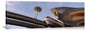 Seattle, Washington Space Needle Monorail Panorama Picture