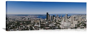 Seattle, Washington Aerial City Skyline Panorama Picture