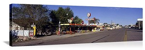 Seligman, Arizona Snow Cap Drive-In Panorama Picture