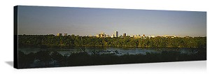 Columbia, South Carolina Waterfront Skyline Panorama Picture