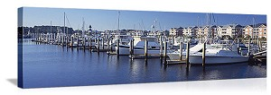 Little River, South Carolina Marina Panorama Picture
