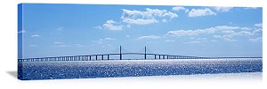 Tampa Bay, Florida Sunshine Skyway Bridge Panorama Picture