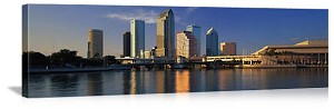 Tampa Bay, Florida Waterfront Skyline Panorama Picture