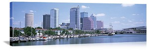 Tampa Bay, Florida Garrison Channel Marina Panorama Picture