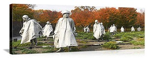 Washington, DC Korean Veterans Memorial Panorama Picture