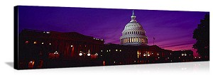Washington, DC Capitol Building Twilight Panorama Picture
