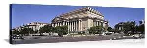 Washington, DC National Archives Building Panorama Picture
