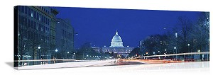 Washington, DC Capitol Building, Pennsylvania Avenue Panorama Picture