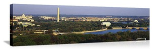 Washington, DC Potomac River Skyline Panorama Picture