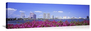 West Palm Beach, Florida Beachfront Skyline Panorama Picture