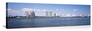 West Palm Beach, Florida  Waterfront Skyline Panorama Picture