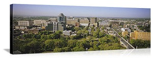 Wilmington, Delaware Downtown Skyline Panorama Picture