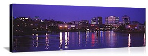 Wilmington, Delaware Evening Skyline Panorama Picture