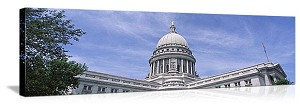 Madison, Wisconsin State Capital Building Panorama Picture