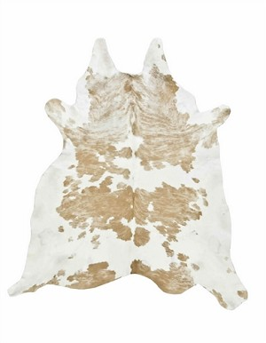 Natural Beige and White Special Cowhide Rug
