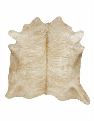 Natural Beige Brindle Cowhide Rug