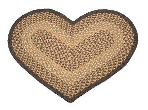 Heart Shaped Chocolate and Natural Jute Braided Earth Rug®