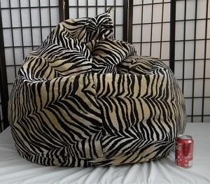 Zebra Smoke Skin Bean Bag Chair Not Furry But Soft
