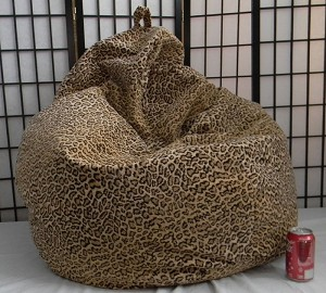 Jungle Cat Skin Bean Bag Chair Not Furry But Soft!