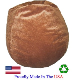 Cocoa Faux Suede Bean Bag
