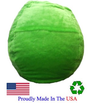 Lime Plush Bean Bag Chair