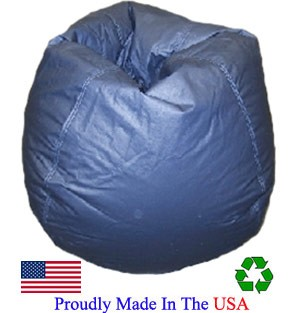 Navy Vinyl Bean Bag